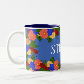 Monogram Floral Bouquet Wreath Mug