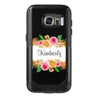 Monogram Floral Design OtterBox Samsung Galaxy S7 Case