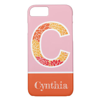Monogram Floral Letter C iPhone Case