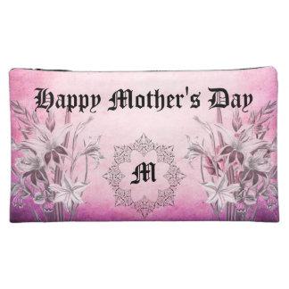 Monogram Floral Pink Medium Cosmetic Bag