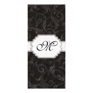 Monogram Floral Print Personalized Rack Card