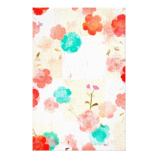 Monogram Floral Roses Custom Stationery