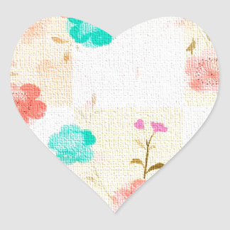 Monogram Floral Roses Heart Stickers