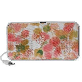 Monogram Floral Roses Mini Speakers