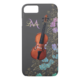 Monogram Floral Violin Music iPhone 8/7 Case
