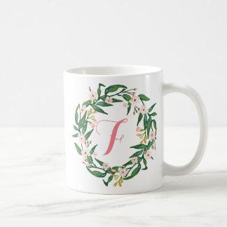 Monogram Floral Wreath,Birthday,Mother's day8 Coffee Mug
