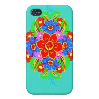 Monogram flower bouquet iphone4 case