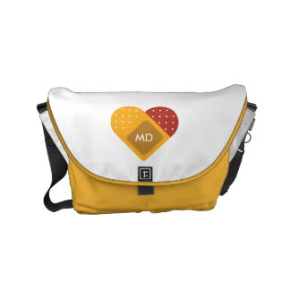 Monogram. For Doctors and Nurses. Bandaged Heart. Commuter Bag