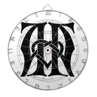 Monogram for the Initials / Letters  AA Dartboard