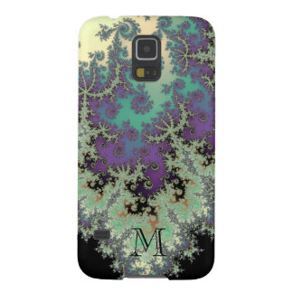 Monogram Fractal in Sage and Amethyst Galaxy Case