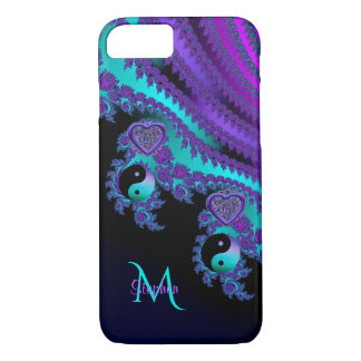 Monogram Fractal Yin-Yang Celtic Heart iPhone 8/7 Case