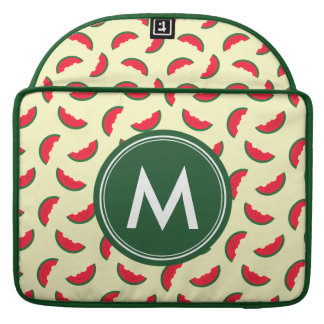 Monogram Fruity Summer Red Watermelon Pattern MacBook Pro Sleeve