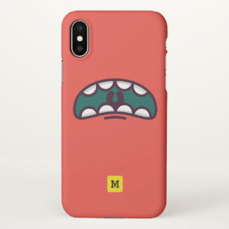 Monogram. Funny Big Mouth Monster. iPhone X Case
