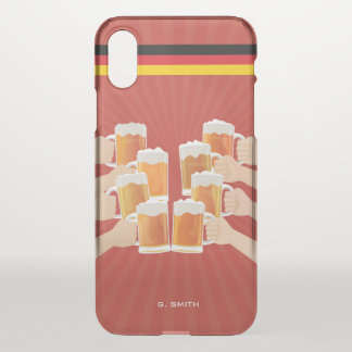 Monogram. Funny. Cheers for Beer! iPhone X Case