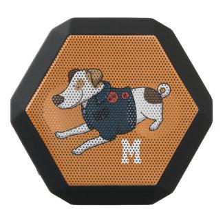 Monogram. Funny Cute Little Puppy Dog.