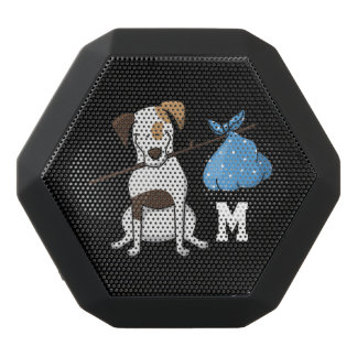 Monogram. Funny Cute Little Puppy Dog.