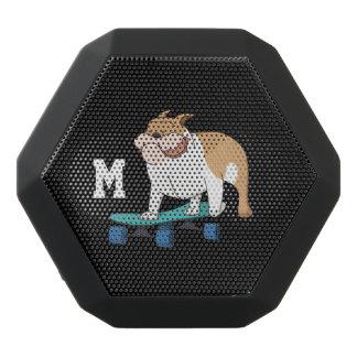 Monogram. Funny Cute Little Puppy Dog. Bulldog.