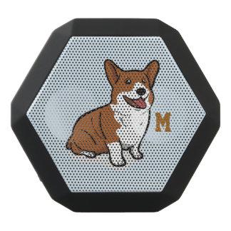 Monogram. Funny Cute Little Puppy Dog. Corgi.