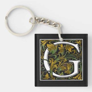 Monogram G Acrylic Key Chain
