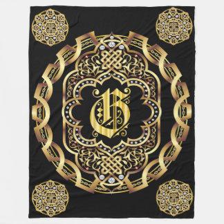 Monogram G CUSTOMIZE To Change Background Color Fleece Blanket