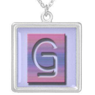 Monogram G Square Necklace