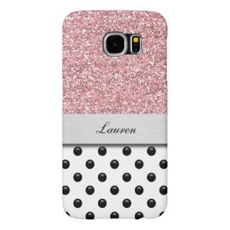 Monogram Galaxy S6 Glitter Case