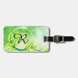 Monogram Garden Plant Luggage Tag