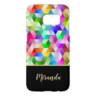 Monogram Geometric Rainbow Colors  Phone Case