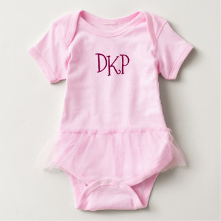 Monogram Girl Baby Shower Newborn Initials Printed Baby Bodysuit