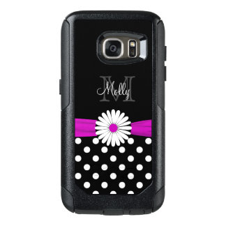 Monogram Girly Floral Polka Dot Deisgn OtterBox Samsung Galaxy S7 Case