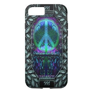Monogram Glowing Peace Symbol iPhone 7 Case