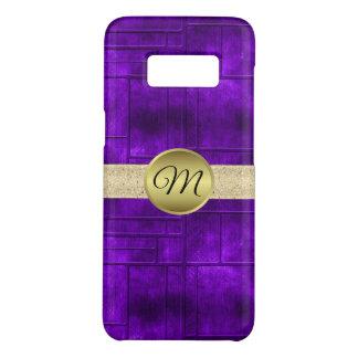 Monogram Gold and Purple Case-Mate Samsung Galaxy S8 Case