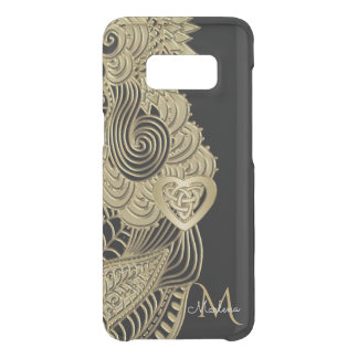 Monogram Gold Lace and Celtic Heart Uncommon Samsung Galaxy S8 Case