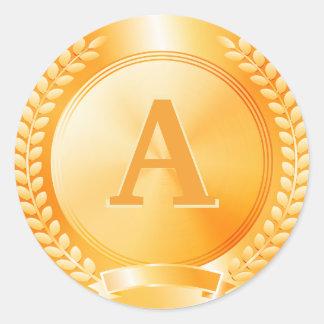 Monogram Gold Medal of Honor Sticker