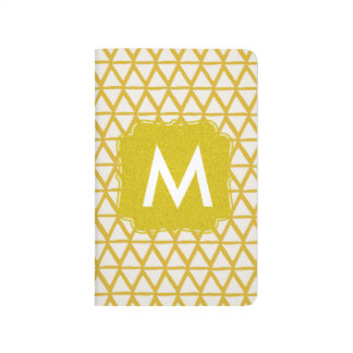 Monogram gold notebook personalised with name