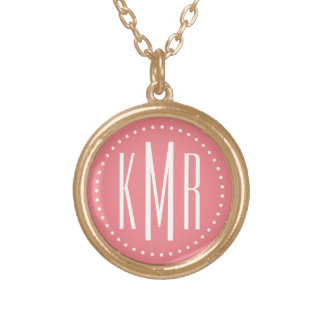 Monogram Gold Plated Necklace