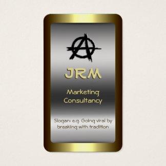 Monogram, Gold-standard Marketing, Anarchy logo Business Card