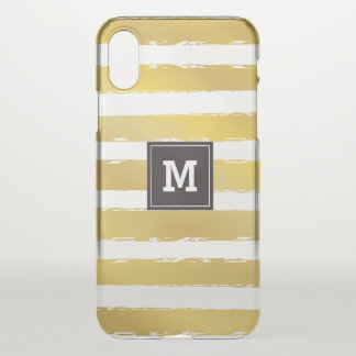 Monogram.Gold Stripes. iPhone X Case