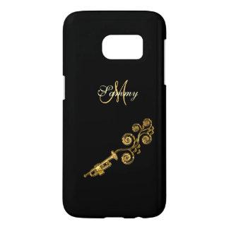 Monogram Gold Trumpet Samsung Galaxy S7 Case