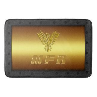 Monogram, Golden Eagle, riveted steel-effect frame Bath Mat