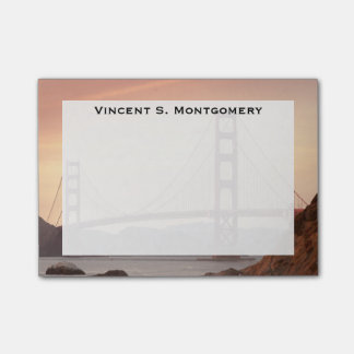 Monogram Golden Gate Bridge, San Francisco Post-it Notes