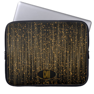 Monogram Golden Star Lights Laptop Sleeve