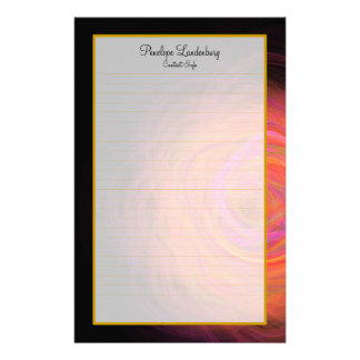 Monogram Golden Wormhole Fine Lined Stationery