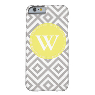 Monogram Gray and Yellow Pattern iPhone 6 case Barely There iPhone 6 Case