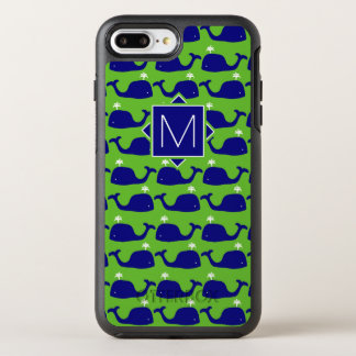 Monogram | Green & Blue Whales OtterBox Symmetry iPhone 7 Plus Case