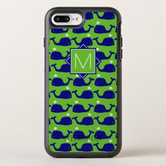 Monogram | Green & Blue Whales OtterBox Symmetry iPhone 8 Plus/7 Plus Case