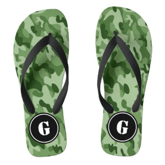 Monogram Green Camo Thongs