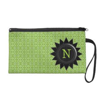 Monogram Green Customizable Bagetttes Wristlet Bag