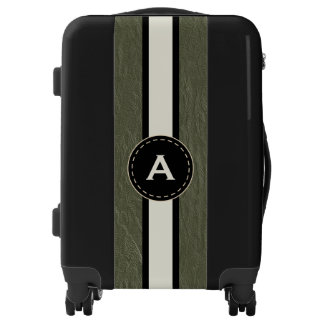 Monogram Green Faux Leather Luggage