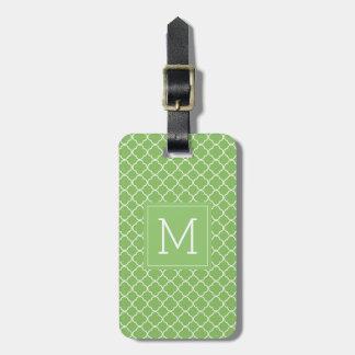 Monogram | Green Trefoil Luggage Tag